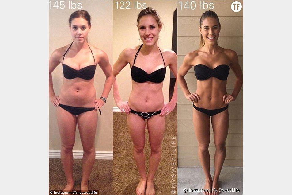 Kelsey Wells, bloggeuse de My Sweat Life, prouve en image que les chiffres qui défilent sur notre balance n'ont aucune valeur en ce qui concerne notre beauté.