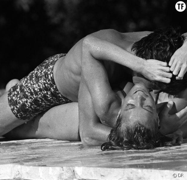 "Romy Schneider et Alain Delon en plein ébat dans ""La Piscine"""