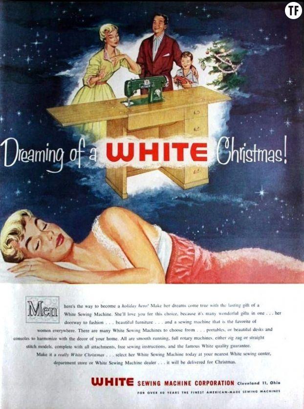 Une publicité des années 50 pour White, une marque de machine à coudre