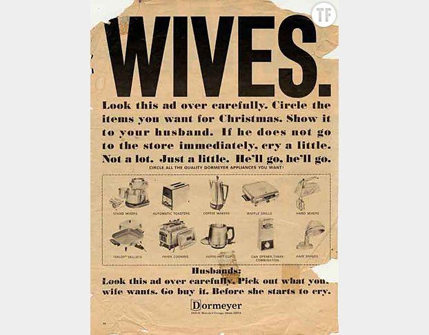 Publicité Dormeyer qui apprend aux femmes à réclamer leur cadeau de Noël...