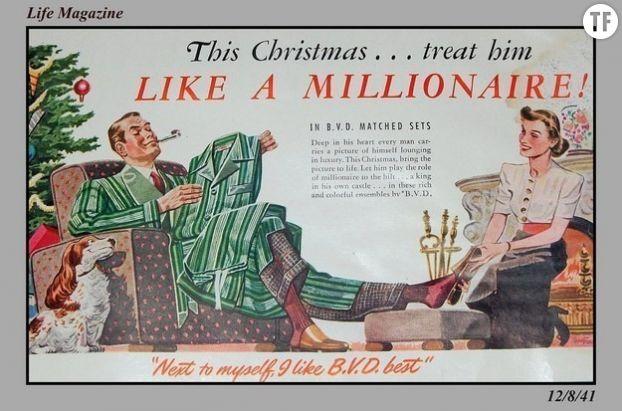 """Publicité sexiste des années 50 : """"Pour Noël, traitez-le en milliardaire"""" !"""