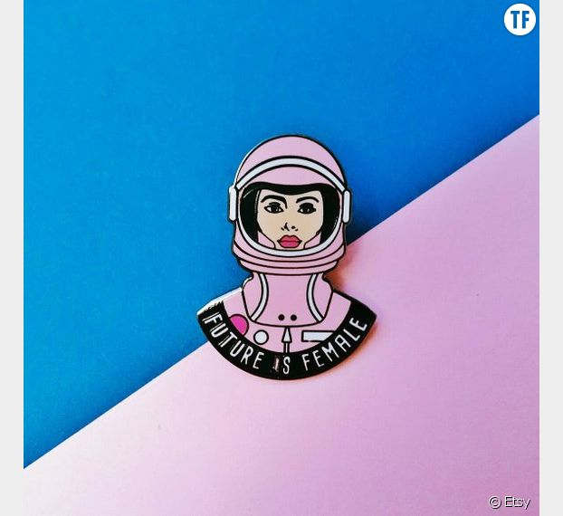 Pin's Future is Female, Etsy.