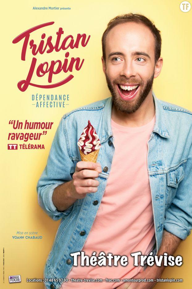 """Affiche du spectacle de Tristan Lopin, """"Dépendance affective"""""""