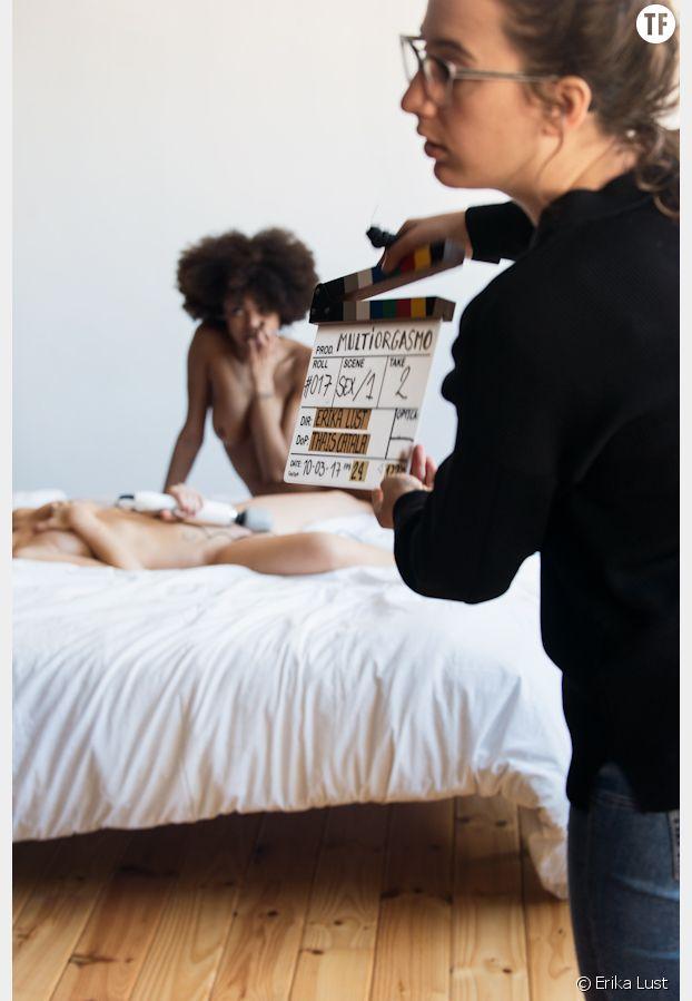 Une scène en plein tournage