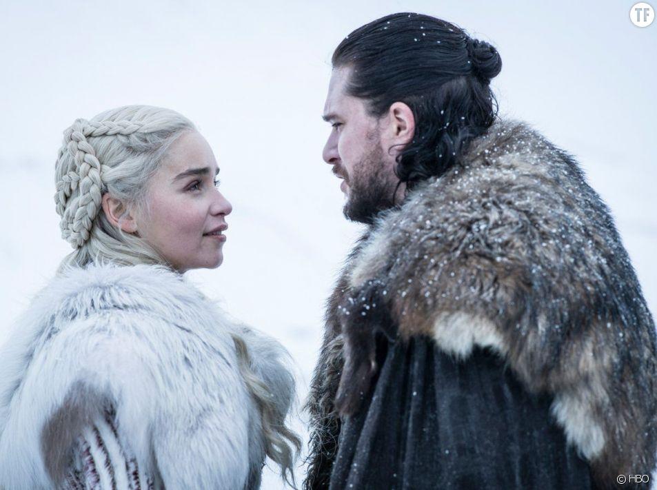 Daenerys et Jon Snow dans la saison 8 de Game of Thrones