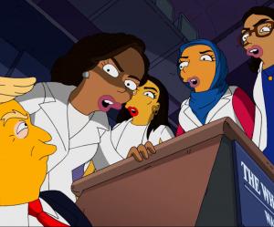 """Les femmes démocrates s'en prennent à Donald Trump dans un clip des """"Simpson"""""""