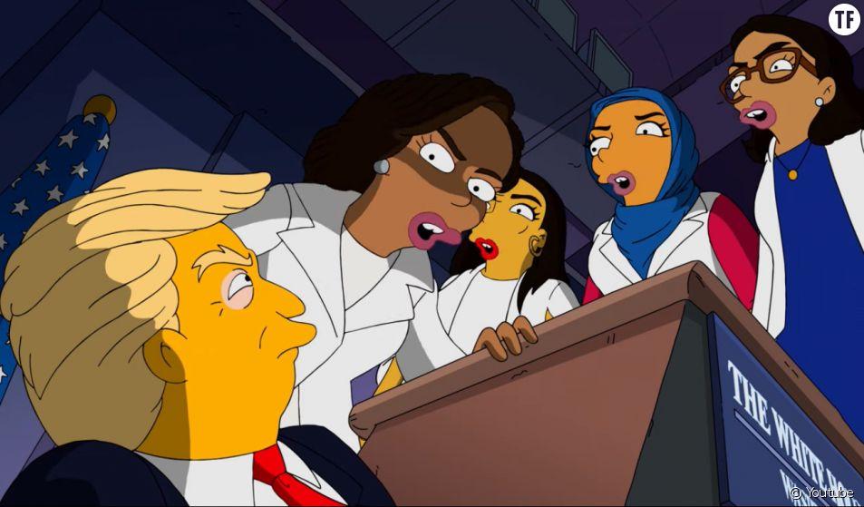Les femmes démocrates s'en prennent à Donald Trump dans une vidéo des Simpsons