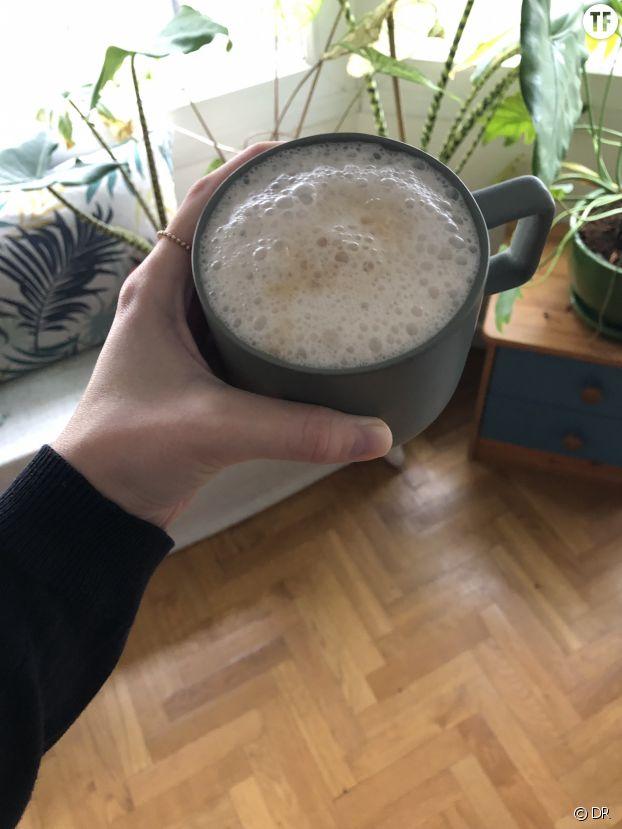 Café latte au lait de riz.