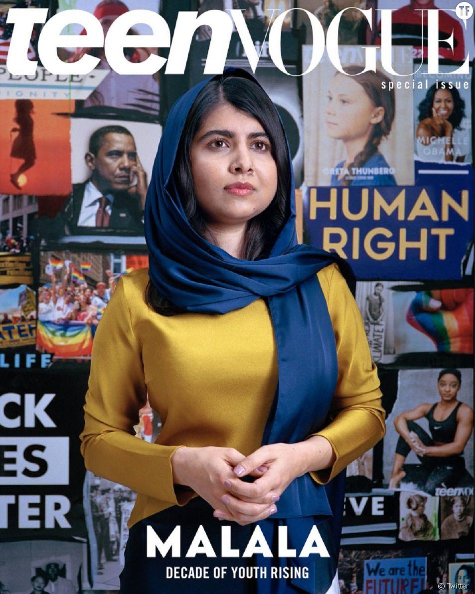 """Teen Vogue"" célèbre les jeunes militantes en couronnant ""Malala""."