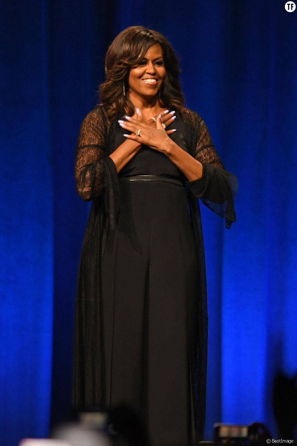 Michelle Obama en promo pour son livre 'Becoming' au BB&T Center à Sunrise en Floride, le 10 mai 2019