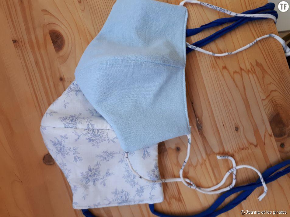 Masques en tissu faits maison