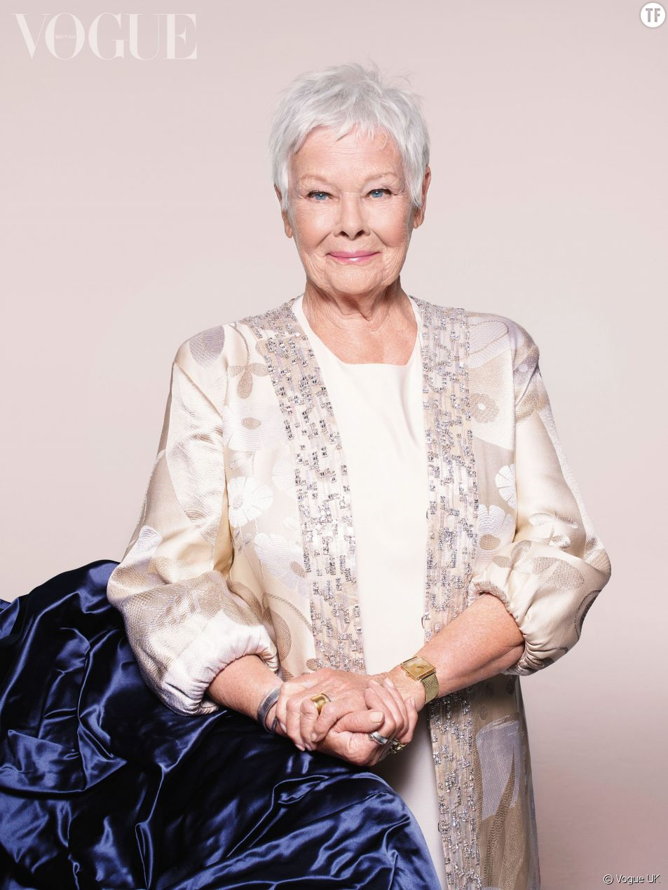 Judi Dench dans Vogue UK