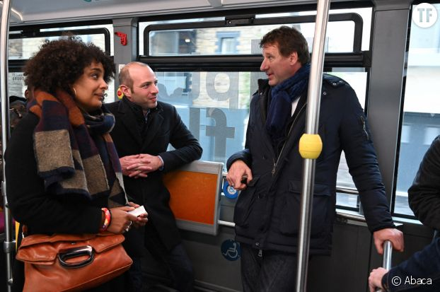Priscilla Zamord, élue écologiste de Rennes, et Yannick Jadot, député européen EELV.