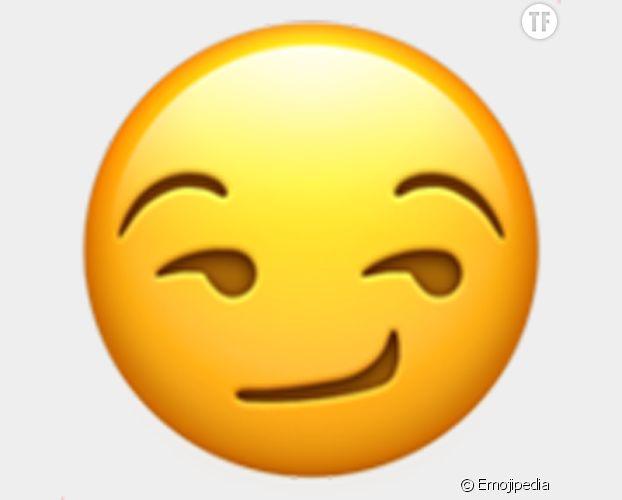 L'emoji sourire de côté