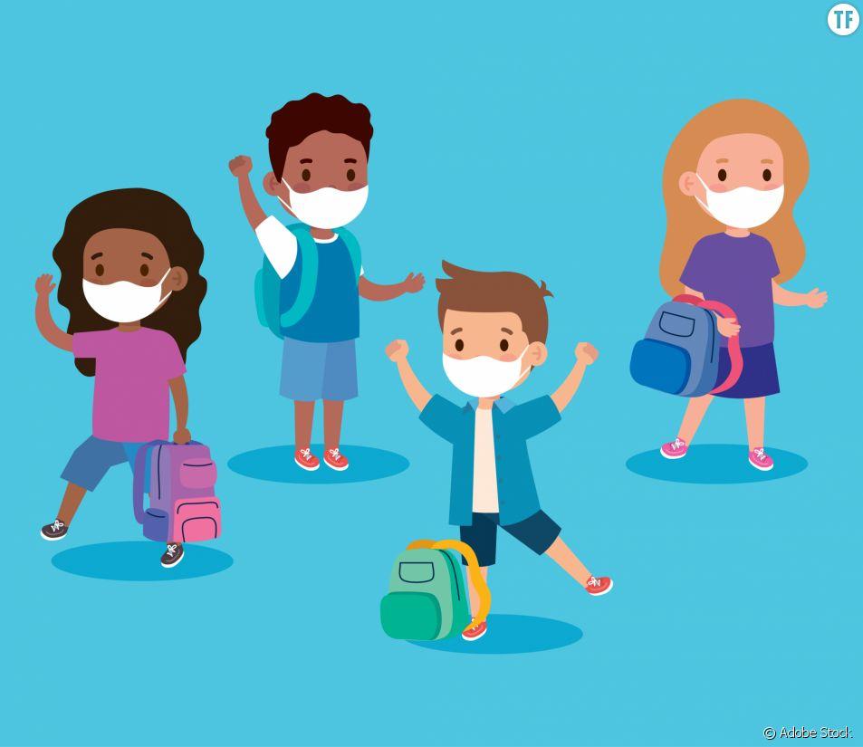 Le port du masque à l'école pour les enfants