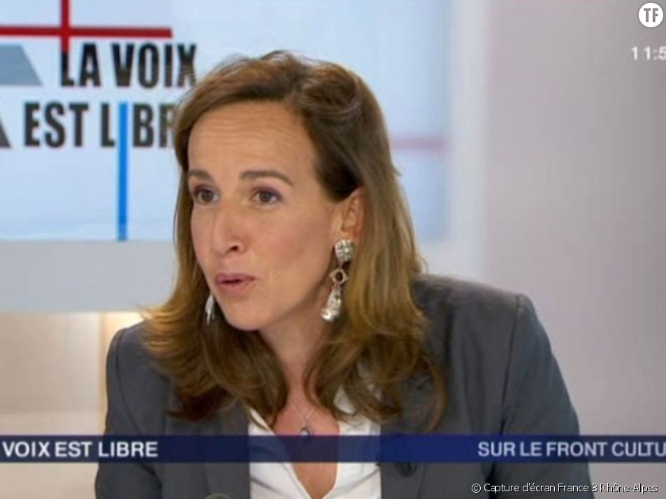 Sophie Robert, alors secrétaire départementale du Front national dans la Loire, en interview sur France 3 Rhône-Alpes en 2013