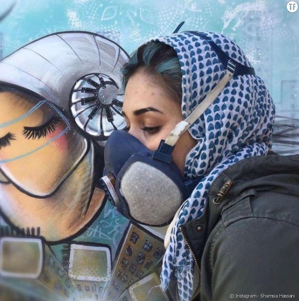 Shamsia Hassani, la street artist qui célèbre les Afghanes. [Photo : Instagram / Shamsia Hassani]