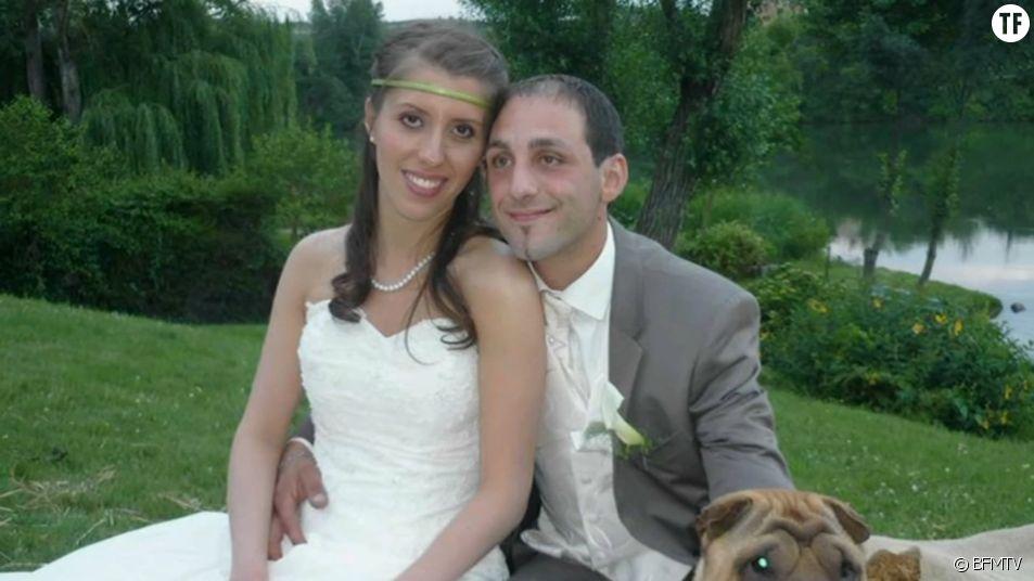 Delphine Jubillar et Cédric Jubillar le jour de leur mariage