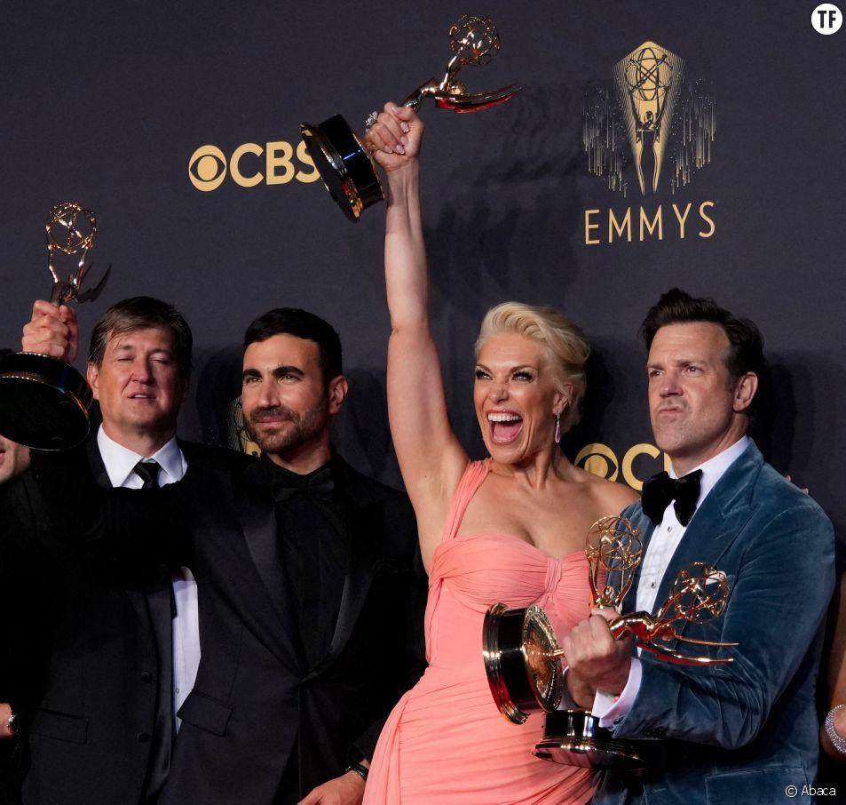 Le casting de Ted Lasso lors des Emmy Awards 2021