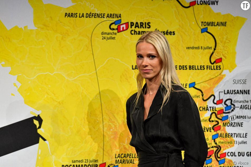 La directrice et ancienne championne de France de cyclisme Marion Rousse évoque les discriminations salariales entre coureurs et coureuses cyclistes.