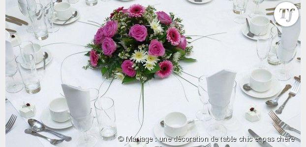Mariage une d coration de table chic et pas ch re - Deco de mariage pas chere ...