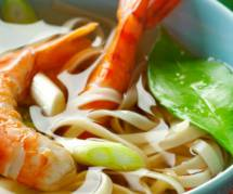Recette chinoise rapide et facile : la soupe de nouilles aux crevettes