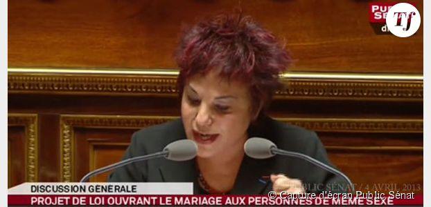 Mariage gay au Sénat : Esther Benbossa remet Gaudin à sa place – vidéo