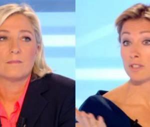 """Marine Le Pen vs Anne-Sophie Lapix, le match dans """"Dimanche + sur Canal"""" - vidéo"""