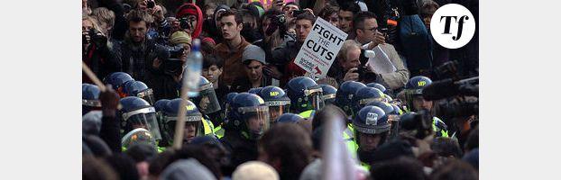 Manifestations à Londres contre le plan d'austérité de 2011