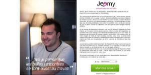 CV original : un community manager copie Meetic pour trouver un job