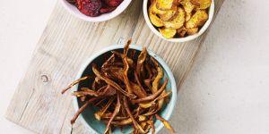 Recettes de chips maison : pomme de terre, courgettes et pommes