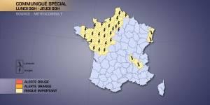 Météo France : températures, canicule, fortes pluies  et orages  le 18 juin