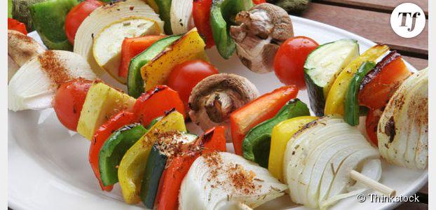 Recette barbecue inratable : brochettes aux légumes