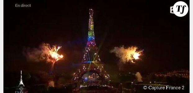 Feu d'artifice du 14 juillet : le rainbow flag sur la Tour Eiffel agite Twitter