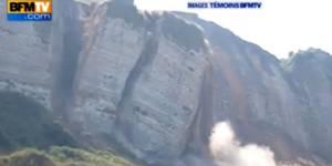 Une falaise s'effondre en Seine-Maritime – vidéo