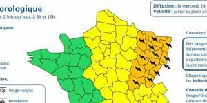 Météo France : alerte orange pour les orages dans 13 départements (24 juillet)