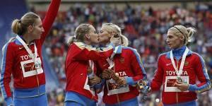 Mondiaux d'athlétisme : le baiser russe n'était pas un symbole pro-gay