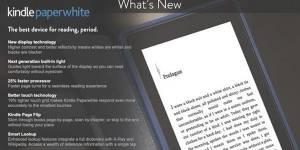 Kindle Paperwhite : Amazon présente sa liseuse par erreur
