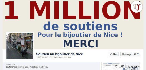 """Soutien au bijoutier de Nice : y a-t-il eu achat de """"like"""" sur Facebook ?"""