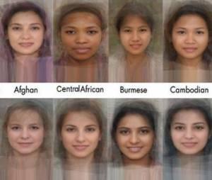 Le visage-type des femmes du monde en 40 images