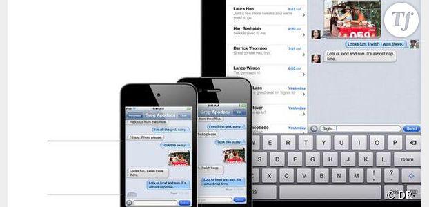 iOS7 : bug des envois de messages SMS et MMS avec iMessage