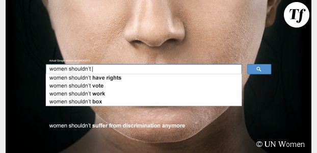 Google : les requêtes sexistes dénoncées dans une campagne de l'ONU Femmes