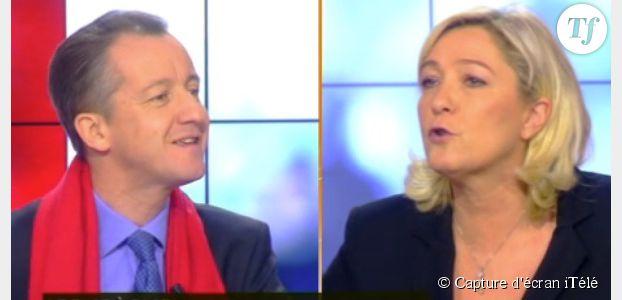 Marine Le Pen prend violemment à partie Christophe Barbier sur iTélé