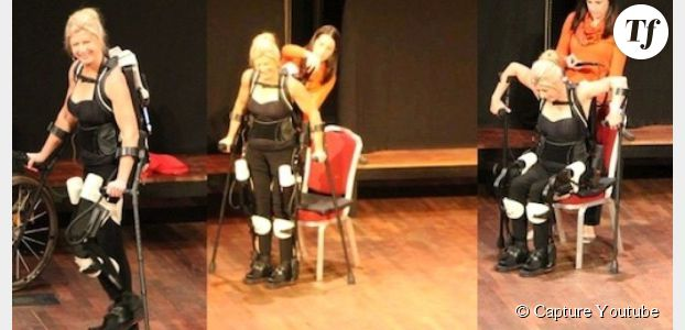 Paraplégique, elle marche de nouveau grâce à un exosquelette - en vidéo