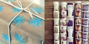 Trois idées pour du papier cadeau personnalisé et pas cher