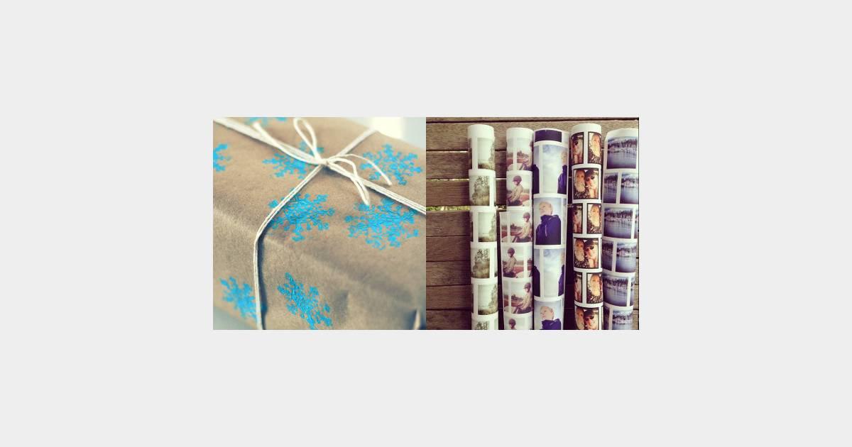 trois id es pour du papier cadeau personnalis et pas cher. Black Bedroom Furniture Sets. Home Design Ideas
