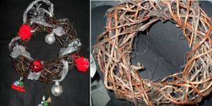 No l 2013 comment fabriquer une couronne en tulle diy - Couronne de porte pour noel ...