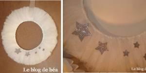 Noël 2013 : comment fabriquer une couronne en tulle ? - DIY