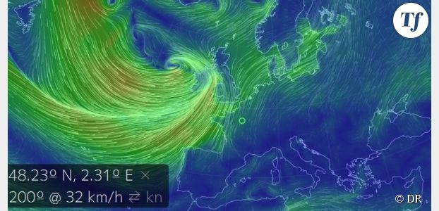 carte meteo temps reel Météo France : la tempête de Noël en temps réel sur une carte des