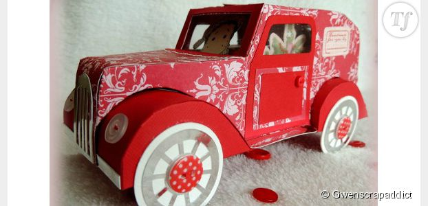 diy de no l comment fabriquer une voiture en papier pour vos enfants terrafemina. Black Bedroom Furniture Sets. Home Design Ideas